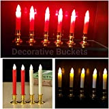 Decorative Buckets:diwali Lights : COLOR CHANGING LED CANDLE WITH FLICKERING FLAME|(TWO CANDLE)|candles|battery Operated Lights | Led Candle |diwali Decorations |diwali Decorations Item | Candles| Diwali Christmas Lightning |christmas Decorations|Lights F