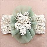 Große Blume Haarband Stirnband Trägerlos Kopftuch Fotografie Prop Für Baby Mädchen Grün
