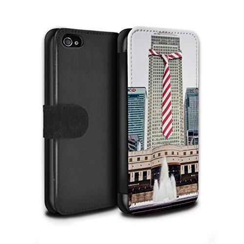Stuff4 Coque/Etui/Housse Cuir PU Case/Cover pour Apple iPhone 4/4S / Faire Demi-Tour Design / Imaginer Collection Costumes