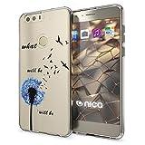 Huawei Honor 8 Coque Protection de NALIA, Housse Motif Silicone Portable Premium Case Cover Transparente, Ultra-Fine Souple Gel Slim Bumper Etui pour Telephone Honor8, Designs:Dandelion Bleu