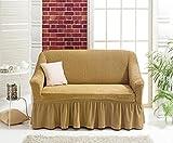 My Palace Bielastisch 2 Sitzer Bezug, 2 Sitzer Husse. Sehr elastische Auflage in beige. Sofabezug Hussen Sofahusse Sofa Husse/Stretch Hussen/Sofahusse 2-Sitzer/Sofabezug 2 Sitzer