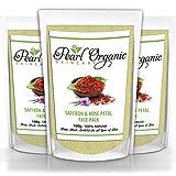 Pearl Organic Skincare Saffron Rose Petal Face Pack -Natural Treatment For Skin Whitening