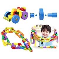 Vijaya Impex Multi Coloured Educational Play and Learn Plastic Building Block Set Pipes Puzzle Set - Blocks for Kids…