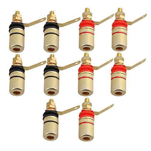 Gold Plated 4MM Audio-Stecker-Buchse Amplifier Terminal Binding Post von Staubbeutel-Profi® Gold Plated Binding Post-terminals