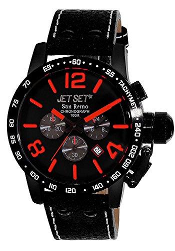 Jet Set Men's Watch San Remo Black/Red J8358B 537