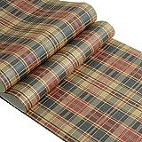 Non Tissé Fond D'écran Écossais Pastorale Style À Carreaux Papier Salon Chambre 0.53 * 10m / Roll (Couleur : A)