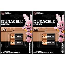 4 x piles CR123 3 V au lithium Duracell Ultra photo - dl123 Pile pour batterie - el123 a - CR123 A - CR17345