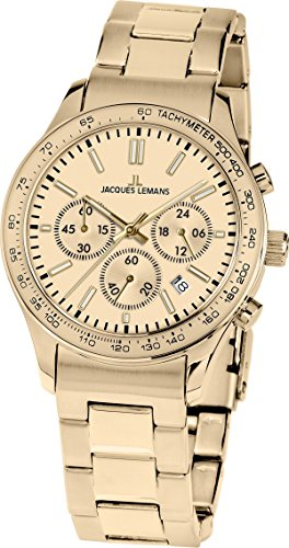 Jacques Lemans Unisex Watch Rome Sports 1–1586ZN Analogue Quartz Stainless Steel