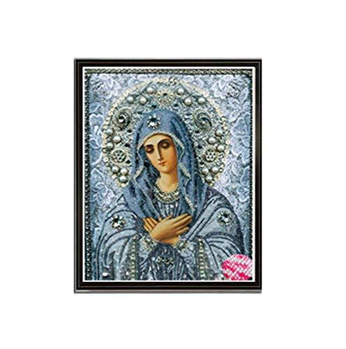 T-YXM DIY 5D Diamante Pintura Bordado de Cristal de Taladro Completo de religión Virgen Cuadros artesanales para decoración del hogar Pintura al óleo