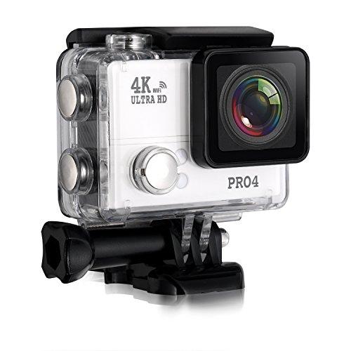 Preisvergleich Produktbild Pro4 4K Sport Kamera Ultra HD Action WIFI Kamera DV Camcorder 1080P 60fps 12MP 170° Grad Weitwinkel 2 Zoll LCD-Bildschirm / 2.4G Fernbedienung Wasserdicht Alle in einem Kits