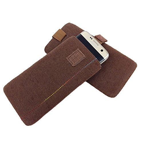 handy-point 5,6 - 6,4 Zoll Filztasche Handytasche Handyhülle Tasche Hülle Schutzülle aus Filz für LG V20, LG Stylus 2, Lenovo Moto X Style, HTC U Ultra, Xiaomi Mi 5S Plus, Mi Mix, Nokia 8, Asus ZenFon Braun