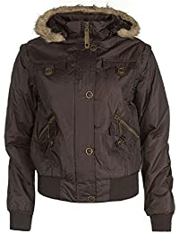 Lee Cooper Mujer Chaqueta y chaleco marrón Jacket and Gilet (X-Small UK 8)
