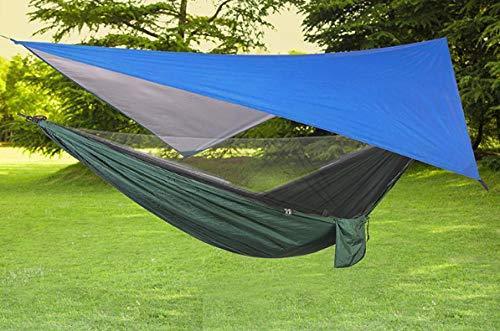 XIAOYY Camping Hängematte mit Moskitonetz und Baumgurten, für Outdoor Backpacking oder einen Innengarten,Camping-C