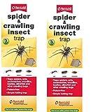 2 x Rentokil Lot de 3 araignées & insectes rampants Beetle Piège à fourmis-cafards