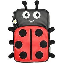 """My Doodles DD7SLB - Funda universal para tabletas y lectores de libros electrónicos de 7"""", diseño mariquita"""