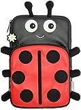 My Doodles Universal Hülle Sleeve Pouch Case für 7 Zoll (17,8cm) Tablet und E-Book Reader Kompatibel mit iPad Mini, Google Nexus 7, Samsung Galaxy Tab 3 7.0, Kindle Fire HD 7 Zoll und Tesco Hudl - Marienkäfer