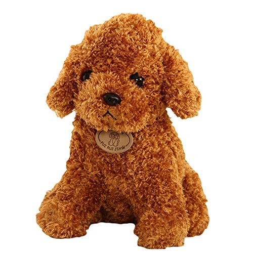 SMACO Niedliche Lovely Puppy Teddy Bear Poodle Stuffed Animal Soft Plush Toy Lovely Pudel Hund ausgestopft,3,25CM