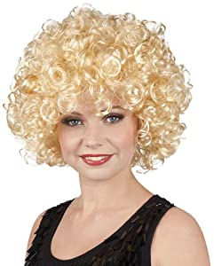 Curly blonde wig (peluca)