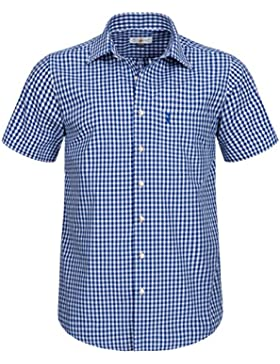 Almsach Kurzarm Trachtenhemd in Blau
