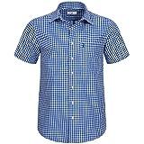 Kurzarm Trachtenhemd in Blau von Almsach, Größe:XL;Farbe:Blau