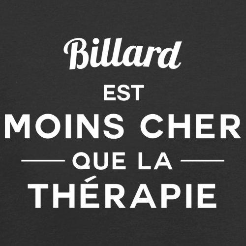 Billard est moins cher que la thérapie - Femme T-Shirt - 14 couleur Noir