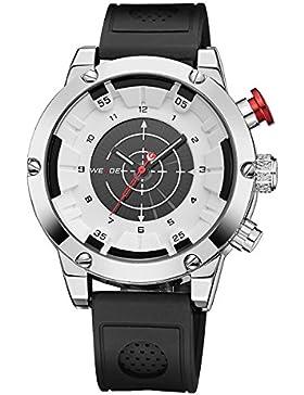 Alienwork Analog-Digital Armbanduhr sport LCD Uhr Herren Uhren Multi Zeitzonen XXL Oversized Silikon weiss schwarz...