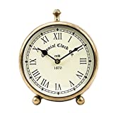 #10: SWHF Colonial Table Clock,Antique Gold Finish: 6 Inch Diameter