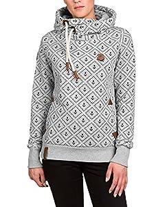 ZANZEA Winter Damen Hoodies Pullover Langarm Jacke Top Sweatshirt Pullover Tops Jumper (EU 46, Grau 1)