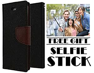 Vinnx Flip Cover For Samsung Galaxy J7 Max Mercury Case With Free Selfie Stick