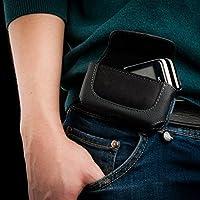 Keple | clip per cintura per Panasonic G51Custodia Orizzontale In Pelle Nero Cell Phone Case Cover pelle portafoglio