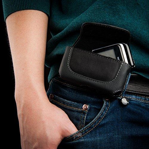 Keple | clip per cintura per Nokia 6131Custodia Orizzontale In Pelle Nero Cell Phone Case Cover pelle portafoglio