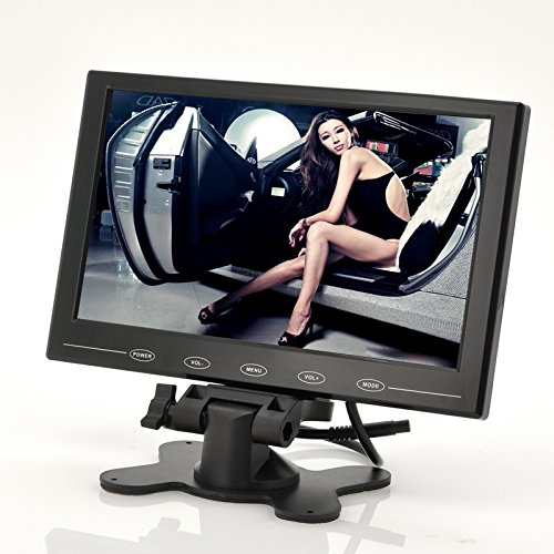 BW 9 Inch TFT LCD Monitor - In-Car Headrest/Stand, Ultra-Thin Design, 800x480 Resolution