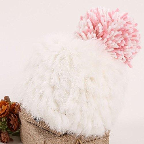 Bonnet de mode pour dames Bonnet en laine, couleur unie Bonnet à capuchon mignon Bonnet d'hiver chaud ( couleur : 1 ) 2