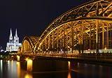 XXL Poster 100 x 70cm Köln, Hohenzollern Brücke über den