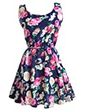 Vestido de verano, RETUROM Sin mangas mini vestidos de gasa verano caliente Lovelyn muchachas de las mujeres (XXL, azul)