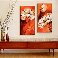FanVass allungato su tela sogno fiori set di 2