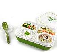 """Specifiche di prodotto: Categoria: Microonde Contenitori Alimentari per Pranzo Colore: Verde Materiale: ABS Dimensione: circa 24,1 x 17,8 x 7cm (9,4"""" x 7"""" x 2,7"""") Peso: 323g Peso lordo: 330g Il pacchetto include 1 x Microonde Contenitori Alim..."""