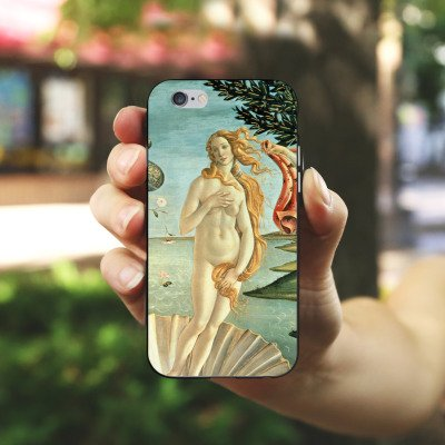 Apple iPhone X Silikon Hülle Case Schutzhülle Sandro Botticelli The Birth of Venus Kunst Silikon Case schwarz / weiß