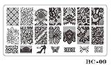 Homim Nail Art Stamping Plaques Rectangle Image de Manucure Ongles Décoration DIY Professionnel