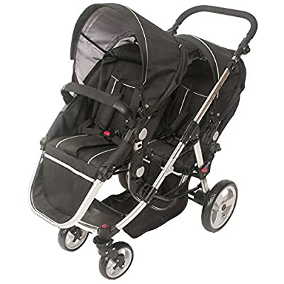 Babyroues Letour Deluxe Duet Stroller, Transforms to Single Stroller. Black by Baby Roues