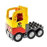 1 x Lego Duplo LKW gelb rot grau Tank Octan Wagen Laster Auto Lastwagen Zugmaschine 1326c01 48125c04pb01