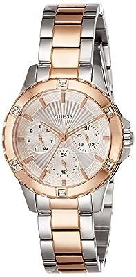 Guess-Reloj de pulsera analógico para mujer cuarzo acero inoxidable w0443l4