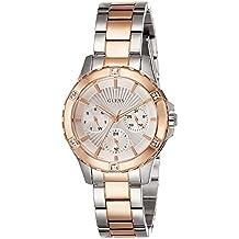 Guess W0443L4 - Reloj de pulsera para mujer, color blanco / plata