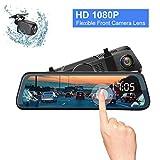 DOS Caméra de Recul sans Fil 10 Pouces Caméra de recul Full HD 1080P, Caméra de Voiture Grand Angle avec Caméra...