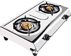 Fortune 2 Burner Royal Gas Stove Stainless Steel (Steel Colour)