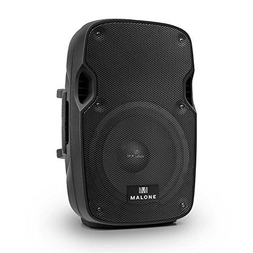 aktive PA Box • Lautsprecherbox • PA-Lautsprecher • 400 Watt Peak-Leistung • 25,4 cm (10'')-Subwoofer • Frequenzbereich: 55 Hz - 20 kHz • Bass- / Treble-Regler • max. Schalldruck: 92 dB • integrierte M10 Flugpunkte • Tragegriffe • schwarz ()