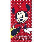 Strandtuch Minnie Boden rot mit weißen Punkten