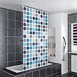 HOMELUX Duschrollo Badezimmer Vorhang Deckenbefestigung mit Klemmstange Seitenzug links oder rechts montierbar 140 x 240 cm CIRCLE