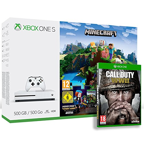Pack Xbox One S 500 Go Minecraft + 3M LIVE + Call of Duty : World War II