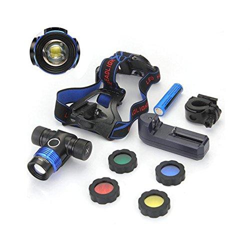 Preisvergleich Produktbild Genwiss 3000 Lumen XM-L T6 U2 3 Modi 4, Farbe, Hell Einstellbare Basis Kopflampe Stirnlampe Fahrrad Licht für Camping Biking Arbeits Jagen Fischen Reiten Walking (schließen Sie Batterie und Ladegerät)